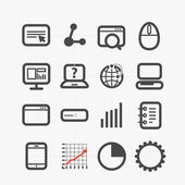 Different SEO icons set with rounded corners. Design elements — Stock Vector