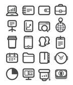 Icone di diverse business impostato con angoli arrotondati. progettazione elemen — Vettoriale Stock