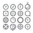 Different Web icons set isolated on white — Stock Vector #42064061