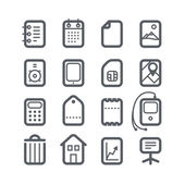 Different vertical Web icons set with rounded corners. Design el — Stock Vector