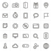 Modern web icons collection isolated on white — Stockvektor