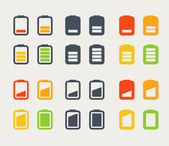 Different accumulator icons set. Design elements — Stock Vector
