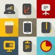 Different business icons set vintage style. Design elements — Stockvektor