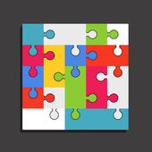 Abstract color puzzle template — Stockvektor