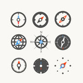 Compass web icons collection — Stock Vector