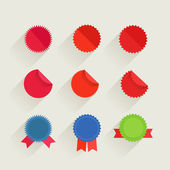 различные ретро стиль красный теги и ленты набора. готов для текста — Cтоковый вектор