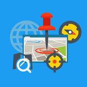 Transportation application concept. Flat design concept — Stock Vector