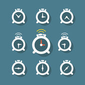 Different status of clocks. Vector collection — Stock Vector