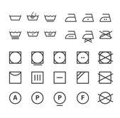 Washing instruction symbols collection — Stock Vector