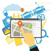 Travel destination vector illustration — Stock Vector