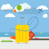 Vacation travelling concept. Flat design illustration — Stock Vector