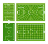 Green football fields collection — Stock Vector
