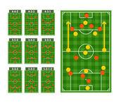 Main football strategy schemes — Stock Vector