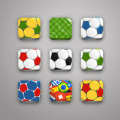 Soccer icons collection — Stock Vector