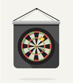 Dart with dartboard. Flat design — Stock Vector