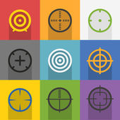 Different targets collection — Stock Vector