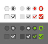 Different selection graphic buttons set — Stock Vector