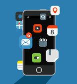 Internet commerce illustration. Flat design concept — Stockvektor