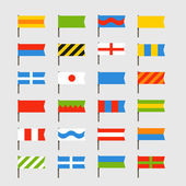 Different color flags set. Ready for a text — Stock Vector