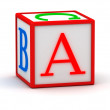 3D cube with letter A - Stock Photo