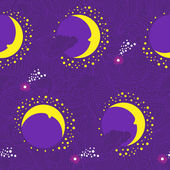 Moon fairy-tale purple pattern — Stock Vector