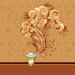 Seamless pastry and coffee waves concept - Stock Vector