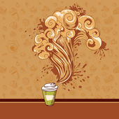 Seamless pastry and coffee waves concept — Stock Vector