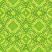 Sun green theme pattern — Stock Vector