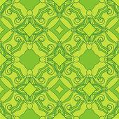 Sun green theme pattern — Stock Vector
