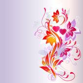 Счастливые сердца и цветы — Cтоковый вектор