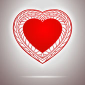 Heart shape as easy simbol of love — Stock Vector