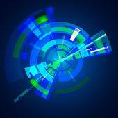 Abstrakt multilayer blue gamma färgcirkeln — Stockvektor