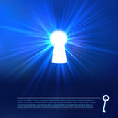 Keyhole light at blue background — Stock Vector