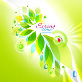 Spring time floral background — Stock Vector