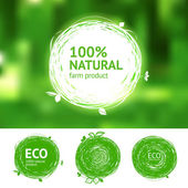 Eco para productos naturales — Vector de stock