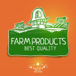 Постер, плакат: Graphic farm product label