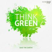 Symbol sztuka ekologia — Wektor stockowy