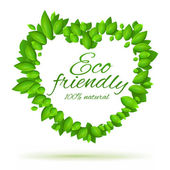 Eco friendly label with love — Stock Vector