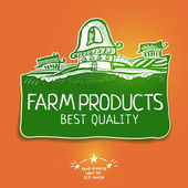 Graphic farm product label — Stock Vector