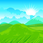 Rural scene illustration — Vector de stock