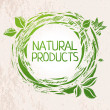 Natural products green colored label — Stock Vector #49812937