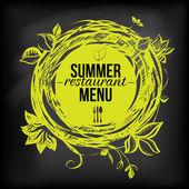 Menu ristorante estivo di chulkboard — Vettoriale Stock