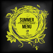 Chulkboard zomer restaurant menu — Stockvector