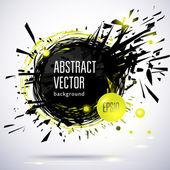 Abstrato quadro contemporâneo preto com salpicos — Vetor de Stock