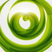 Green heart shape eco friendly background — Stock vektor