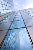 Modern facade of glass and steel — Stock Photo