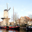 Stock Photo: Windmill Roode Leeuw in Gouda