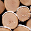 Closeup of pine logs — Stock Photo