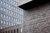 Brick walls of office building — Stock Photo