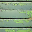 Stockfoto: Part of weathered old green fencing